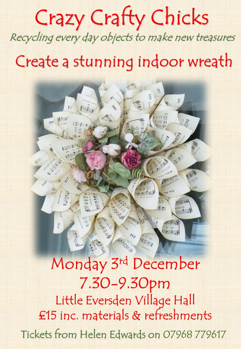 Christmas Wreath Workshop 3rd December 7:30pm – SOLD OUT