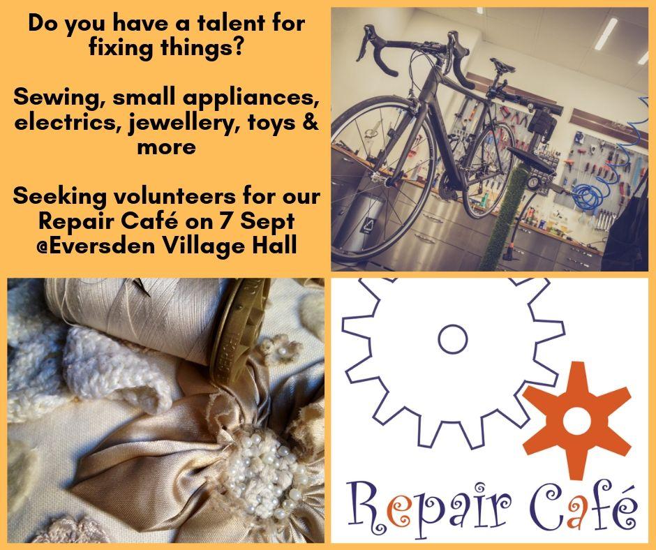 Repair Café Volunteers Wanted