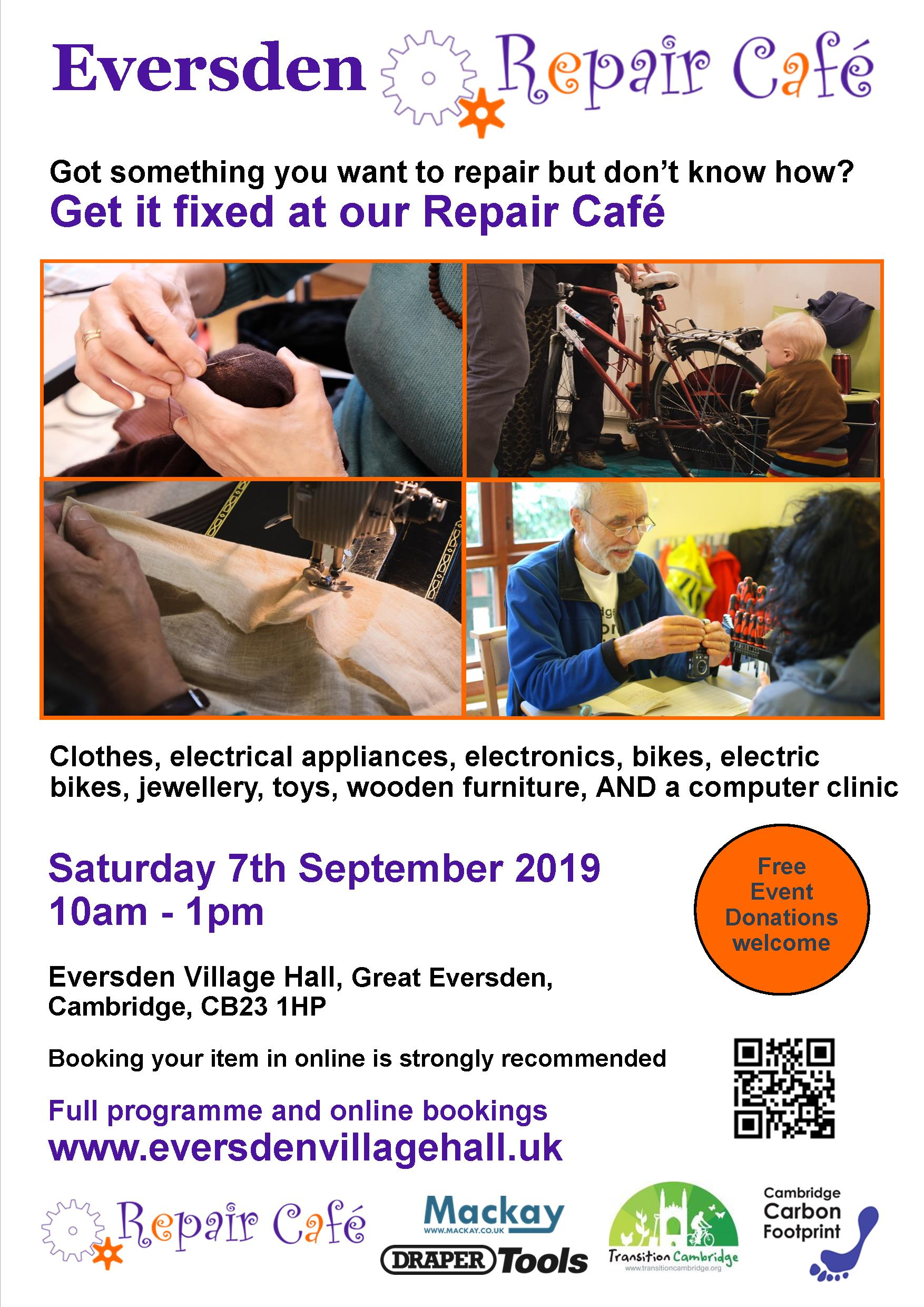 Repair Café – Book your repair slot