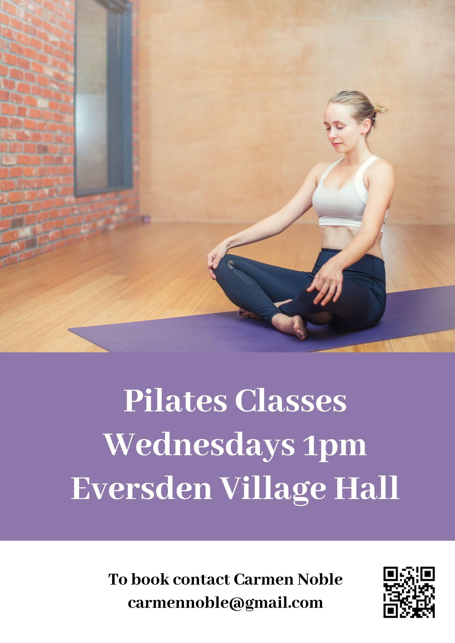 Pilates Wednesdays 1pm