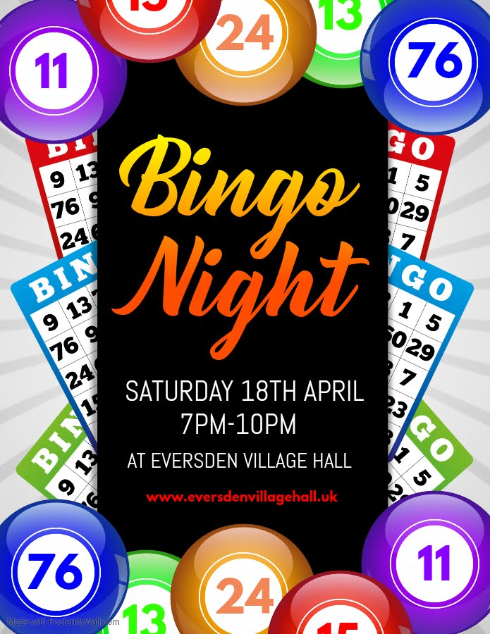 Bingo Night 18 Apr 7pm CANCELLED