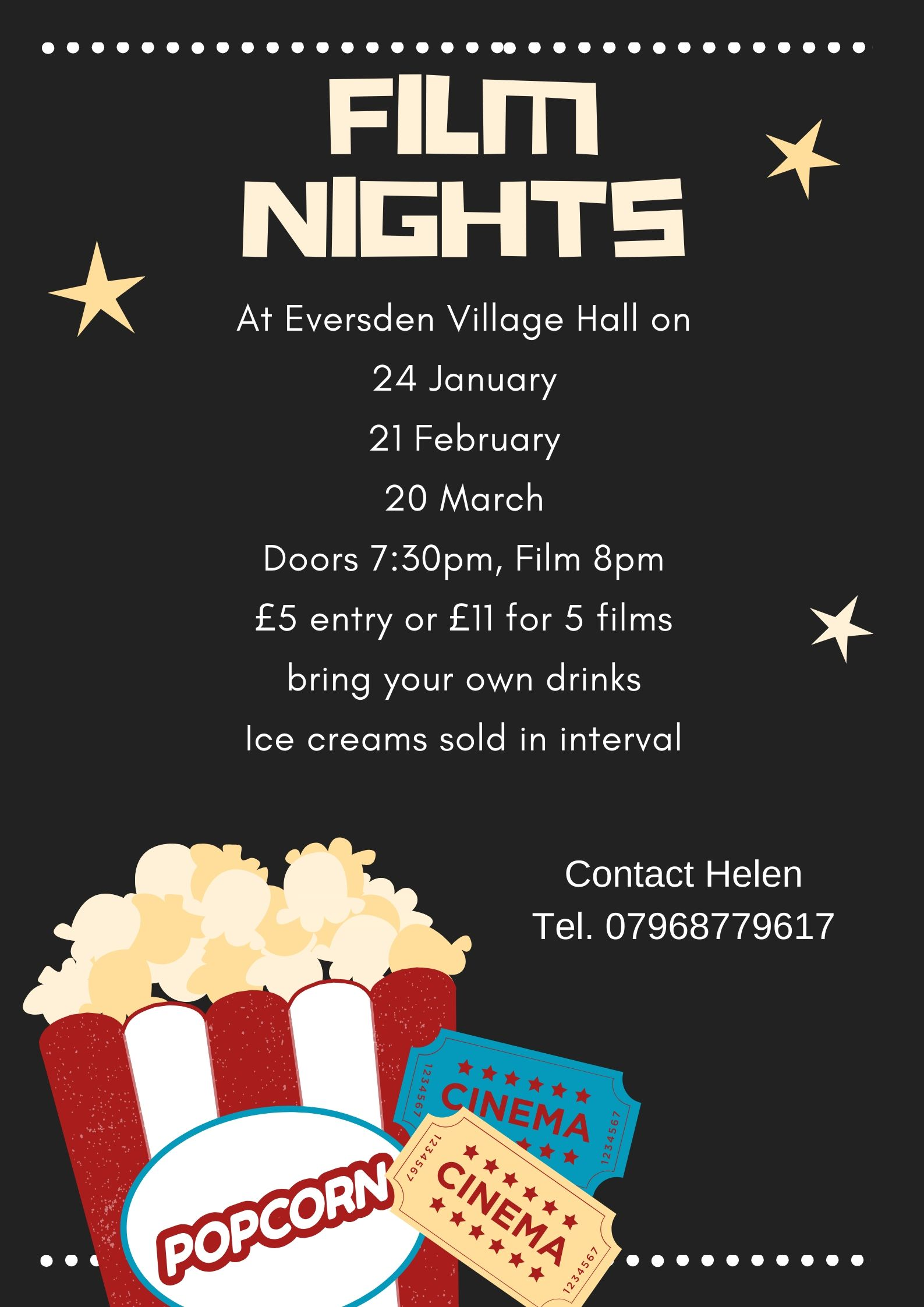 Film Night 24 January Doors open 7:30pm Film at 8pm