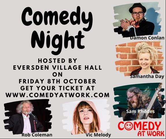 Comedy Night – 8th October!